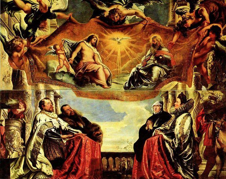Rubens - La Famiglia Gonzaga in Adorazione della Trinità - Mantova Palazzo Ducale