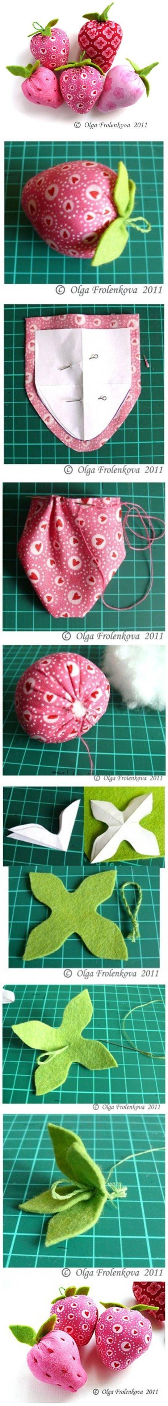 DIY Sew Fabric Strawberry