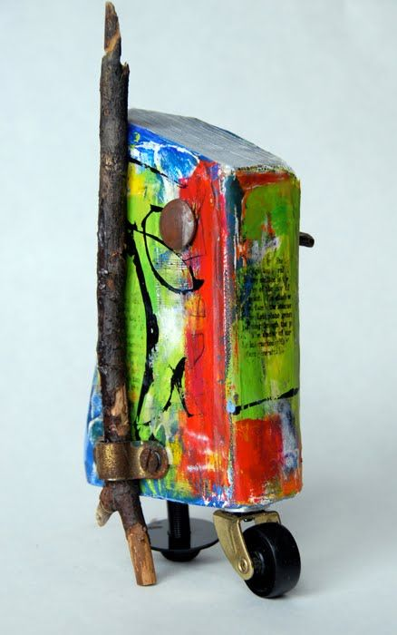 Pamela Paulsrud, Wilmette, IL Drift Velocity Altered book, encaustic, mixed media