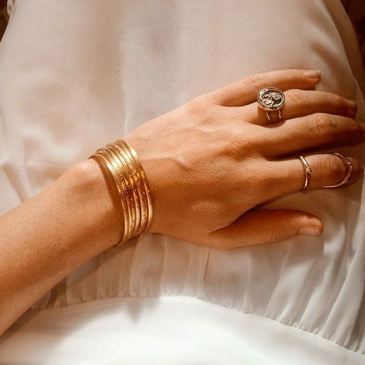 """lulu brud on Instagram: """"Golden hour. Thank you for the sweet golden bangles @satyajewelry !!  #satyajewelry"""""""