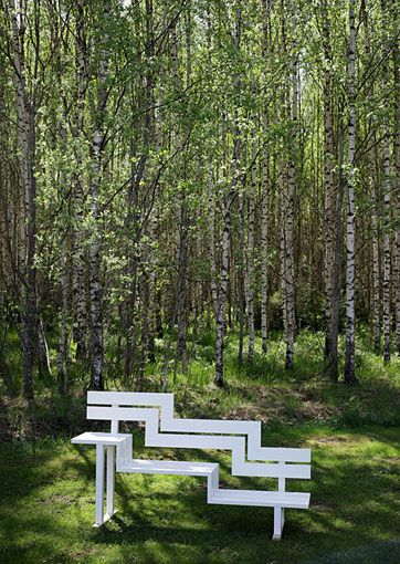 Subscribe Shop Publication Jeppe Hein's Altered Park Bench Sculptures