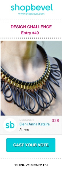 Shop jewelry designs inspired by this trend on www.shopbevel.com.  Please everybody vote for me!!!!!!