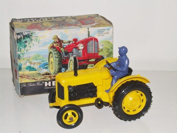Very Rare Tudor Rose Farm tractor http://www.vintagediecast.co.uk/tinplate-plastic/british-tinplate-plastic/tudor-rose-6601-heavy-duty-farm-tractor