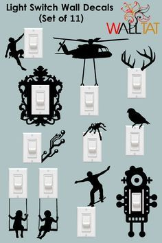 Light Switch and Outlet Wall Decals - 11-Pack - walltat.com                                                                                                                                                                                 More