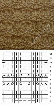 узор 197 | каталог вязаных спицами узоров