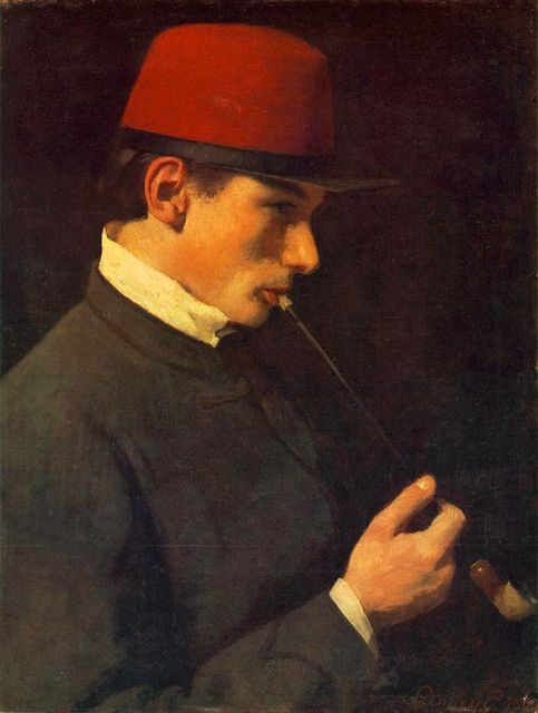 Szinyei Merse, Pal (1845-1920) - 1866 Portrait of Zsigmond Szinyei Merse (Hungarian National Gallery, Budapest)