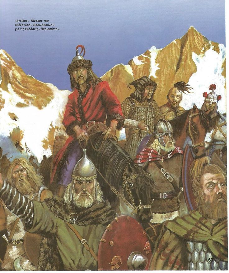 Attila the Hun - the Warriors on foot in the front are Ostro Goth allies.