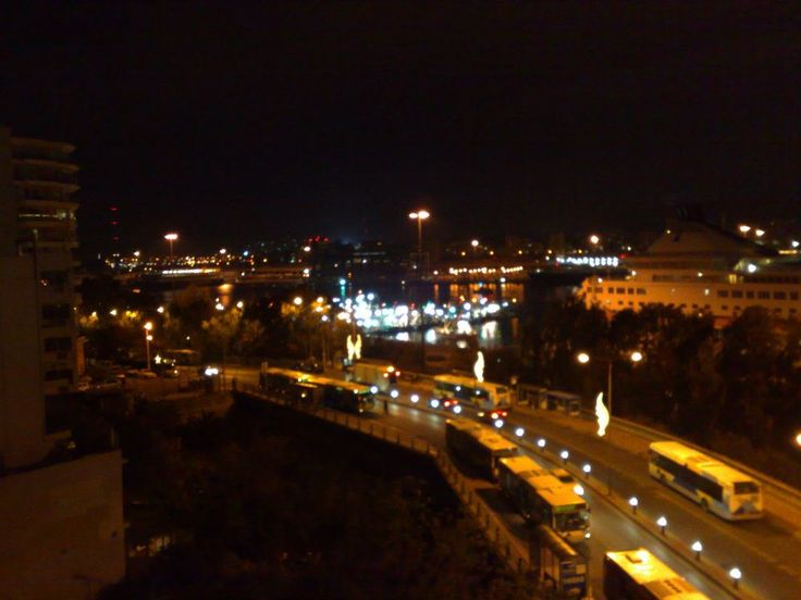 - View from our offices, by night
