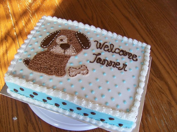 Puppy Cut Out Cake Ideas