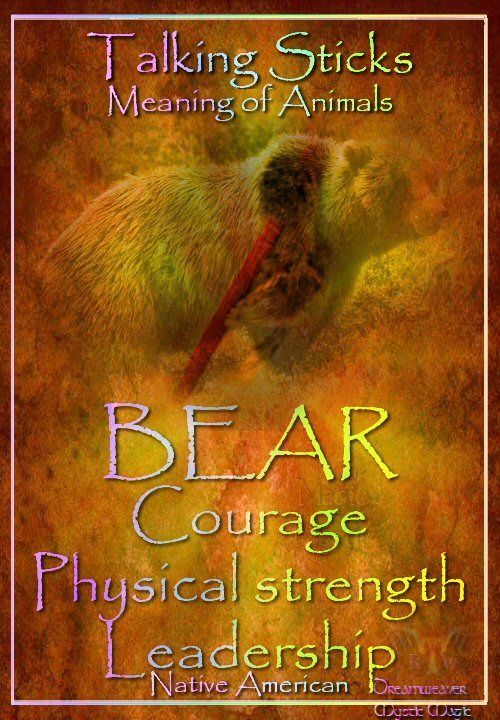 BEAR Courage Physical strength Leadership
