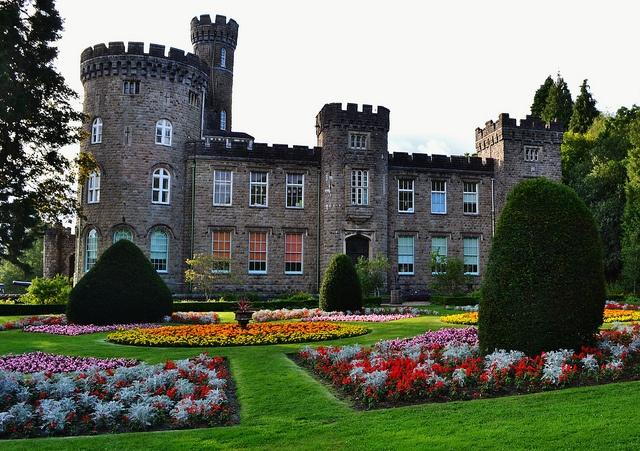 Side view of Cyfarthfa Castle in Merthyr Tydfil, Wales, UK  This was my grammar school