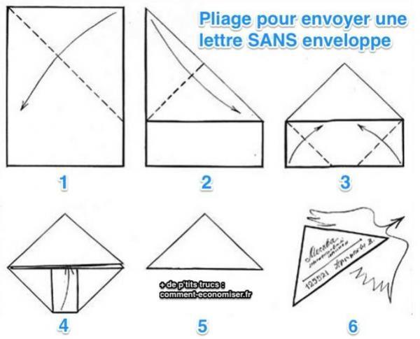 pliage du papier pour en faire une enveloppe