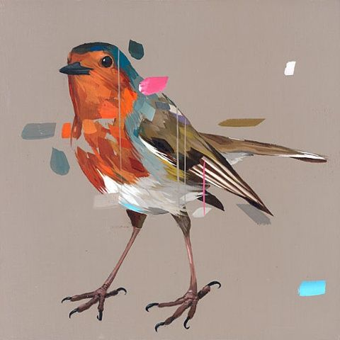 Can't get enough of Frank Gonzales' work. Birds and colour <3