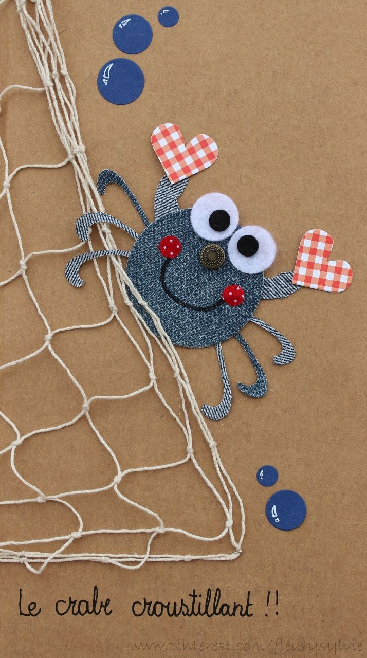 Monsieur le Crabe Croustillant !! Recyclage des pantalons....#jeans #recycle
