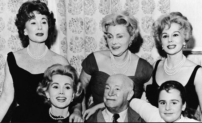 1958 Vienna, Austria. A reunion with retired Major Vilmos 'Papa' Gabor after 11 years apart. Francesca Hilton on the right.