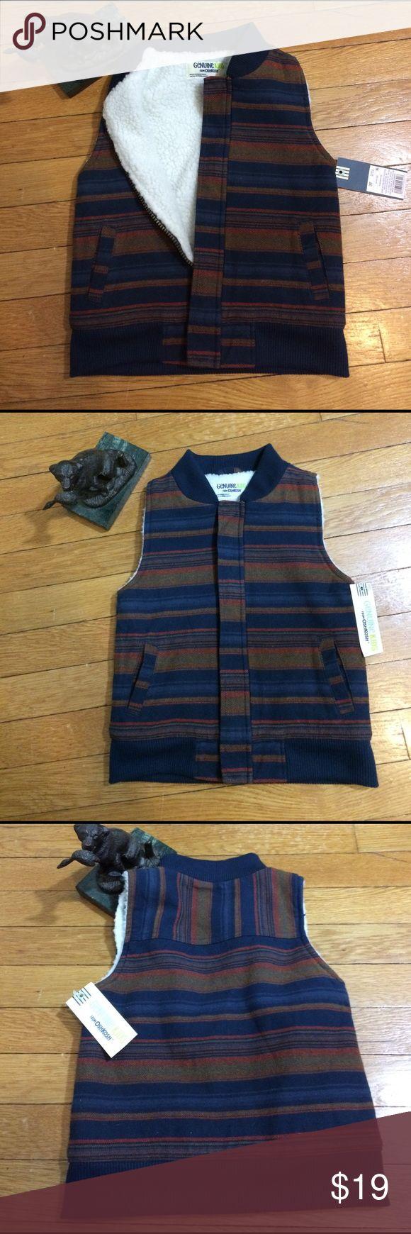Boys Oshkosh Navy Brown Striped Vest 3T NWT Boys Oshkosh Navy Brown Striped Vest 3T NWT Osh Kosh Jackets & Coats Vests