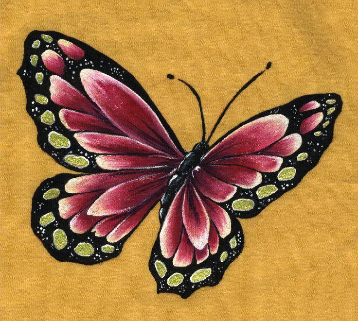 Pintura en tela dibujos mariposas pinterest for Pintura para decoupage