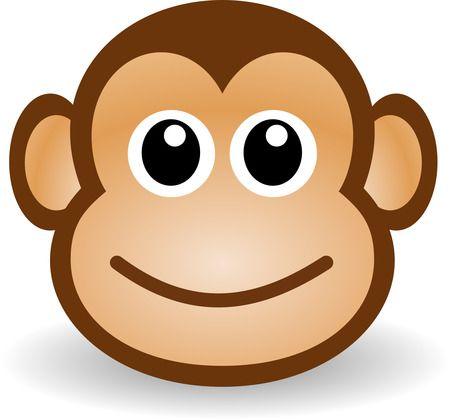 cartoon monkey clip art | Free Cute Cartoon Monkey Clipart Illustration by Picsburg