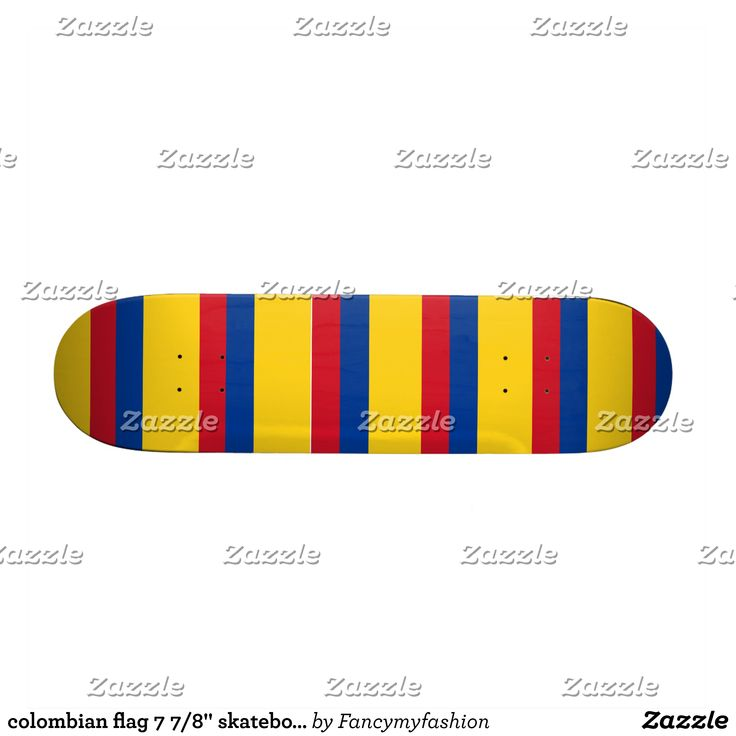 """colombian flag 7 7/8"""" skateboard - Supreme Hard-Rock Maple Deck Custom Boards By Talented Fashion & Graphic Designers - #skating #skater #skateboarding #shopping #bargain #sale #stylish #cool #graphicdesign #trendy #design #designer #graphicdesigner #style"""
