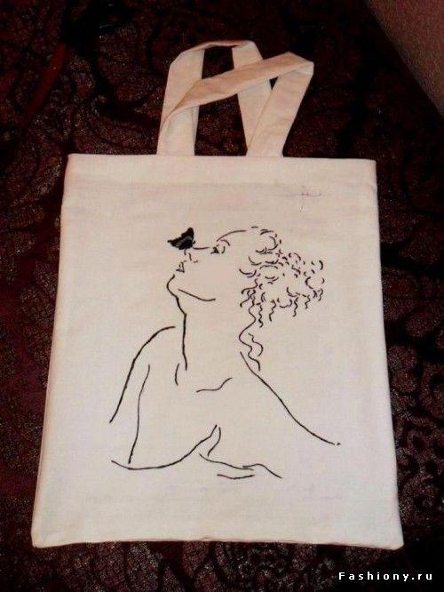 Рисуем на майках, сумках и т.д. ) / сумка хиппи