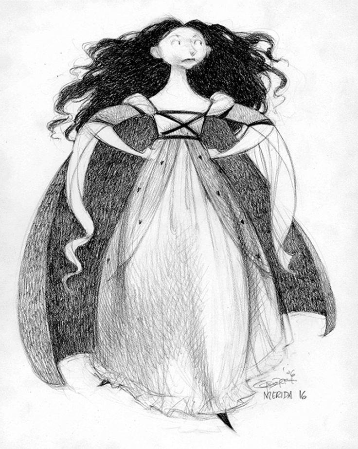 "Concept art of heroine Merida from Disney- Pixar's ""Brave"" (2012) creepy"
