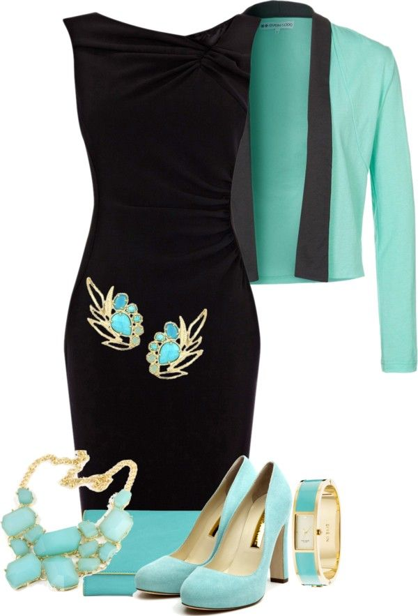 """Little Black Dress"" by glinwen ❤ liked on Polyvore"