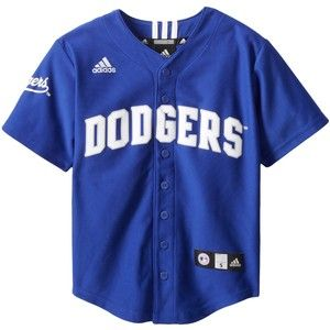 MLB Los Angeles Dodgers Boy's Screen Printed Team Color Baseball Jersey:Amazon:Sports & Outdoors