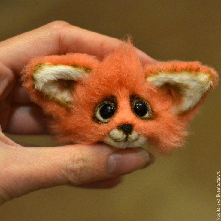 Брошка-лисица из меха в смешанной технике - Ярмарка Мастеров - ручная работа, handmade