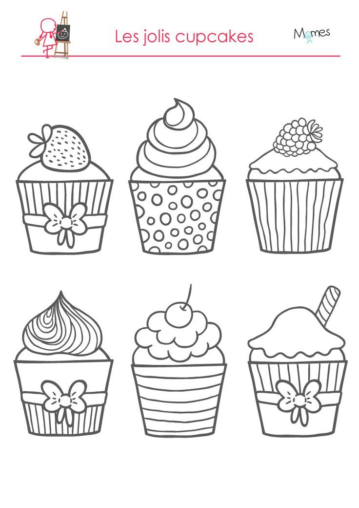 Coloring Pages Delicious Cupcakes Gwennig Le Bail Knizhka Raskraska Raskraski I Shablony Trafaretov