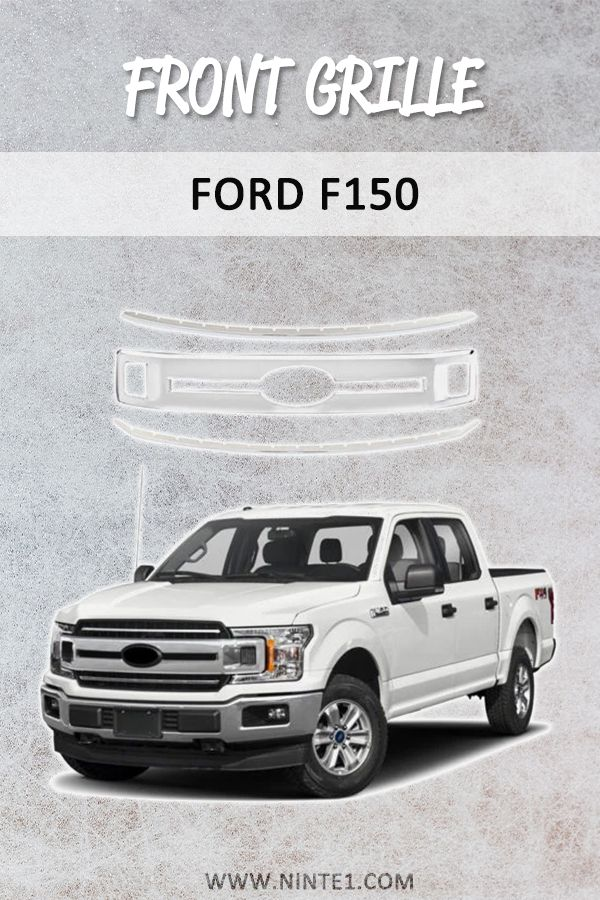 Front Grills For 2018 2019 Ford F150 Xl Xlt Laria Snap On Chrome