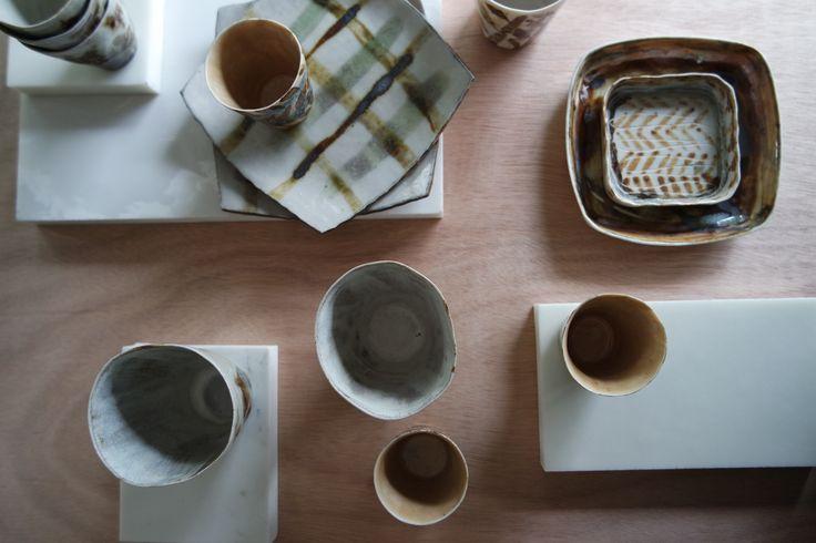 Timna Taylor Ceramics. Styling Susie Zarris.