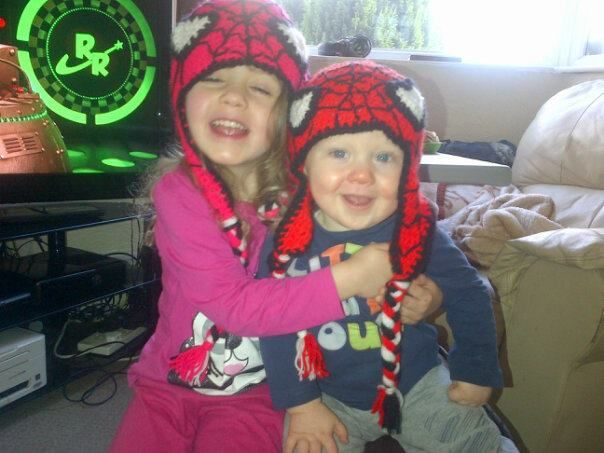 grand childrens spiderman hats