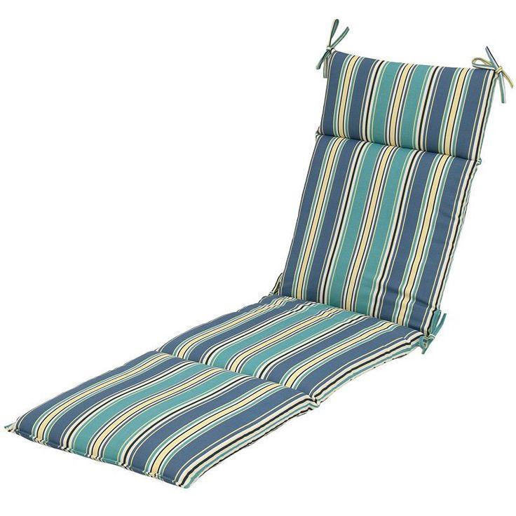 Plantation Patterns Patio Furniture #34: Plantation Patterns Outdoor Chaise Cushion, Multicolor