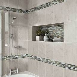 We use quality products from Daltile when remodeling bathrooms in the Central PA area. Consider the rich look of tile and recessed shelving when considering your bath or shower remodel. Tile Product