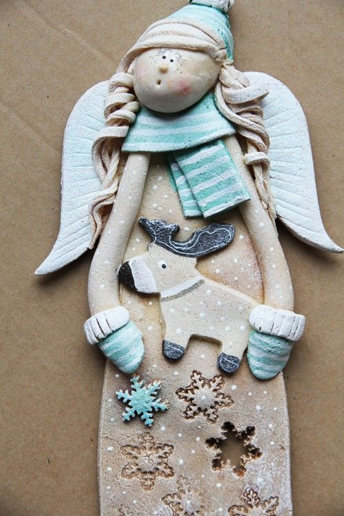 winter clay angel