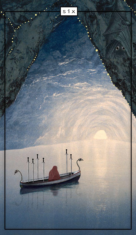 Tarot card, Six of Swords, River Styx