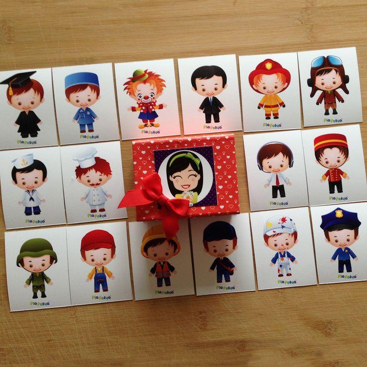 """""""Pia Polya Meslek Kartları""""  Oyun, Pia Polya'nın tüm çocuklara hediyesi olup, fikir mülkiyeti Hotalı Ambalaj Tasarımına aittir."""