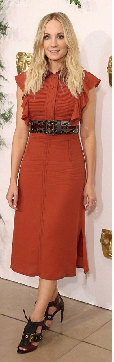 Who made Joanne Froggatt's red ruffle dress?
