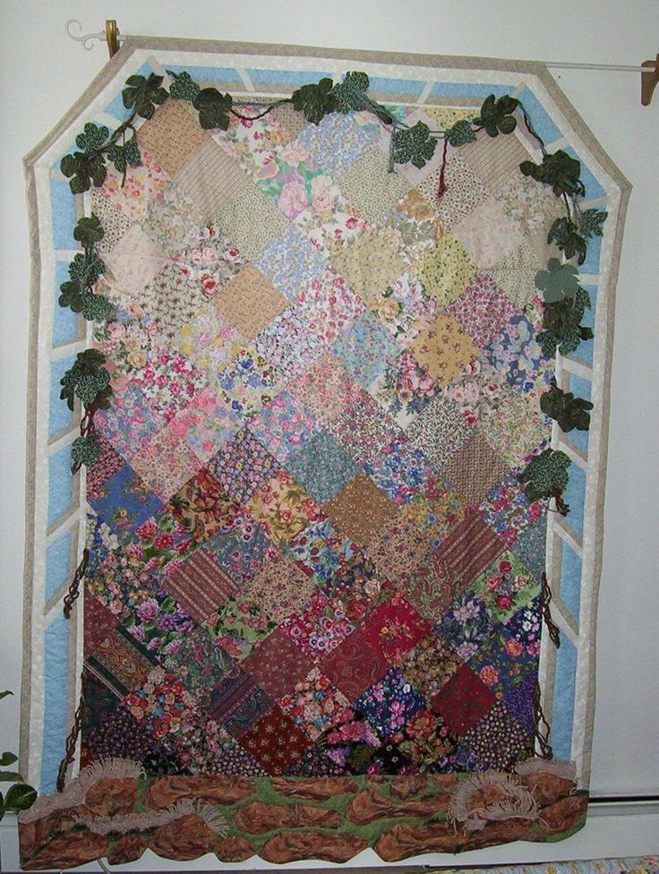 Come Into The Garden And See The Beauty God Has Created This Is The 2nd Quilt I Created For The Church It Is A 3d Quilt Han Quilts 3d Quilts Bohemian