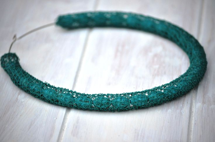 Crochet wire necklaces