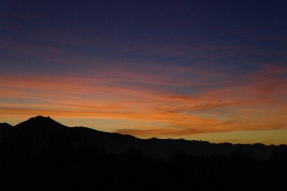 Tramonto sul monte Ventasso