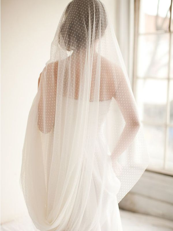 Voile de mariée plumeti