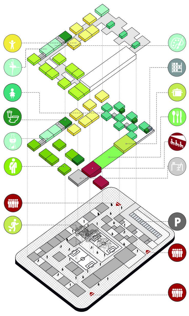 FP Arquitectura, cuarto lugar en concurso Ambientes de Aprendizaje del siglo XXI: Colegio Pradera El Volcán
