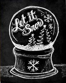Snow globe chalk board
