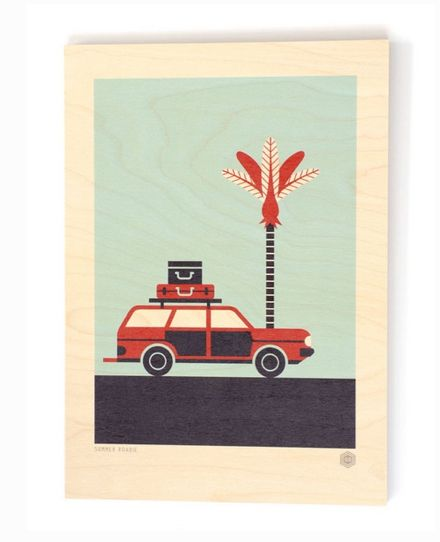 """Christmas isn't Christmas without the New Zealand summer roadie!  """"The Summer Roadie""""  Ply Print"""