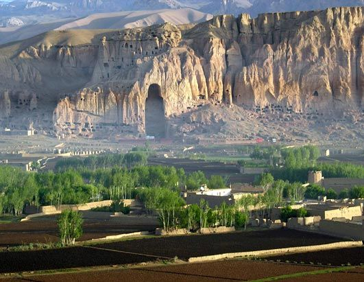 Bamiyan, Afghanistan: The site of the ancient Buddha Statues of Bamiyan. Nestled in the Hindu Kush mountain region along the Silk Road, the statues were built in early 500 A.D. and were over 120 feet tall. Once a site of several Buddhist monasteries, and a thriving center for religion, philosophy, and Indian art. The statues were destroyed by the Taliban in March 2001.  #JetsetterCurator