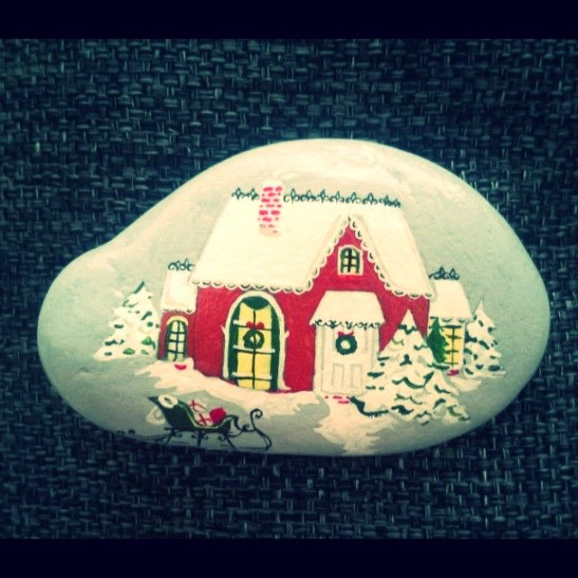 #house#ev#kar#snow#red#noel#christmas#stone#elboyaması