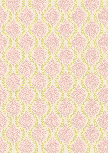 """Floral Garland Pink"" Craft Cotton Fabric link: http://www.elephantinmyhandbag.com/all.php…"