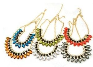#SITC Teardrop Crystal Necklaces ~ $20 - $25 ~ Trendy & Affordable Costume Jewelry ~http://sextoninthecity.ca/products/necklaces/