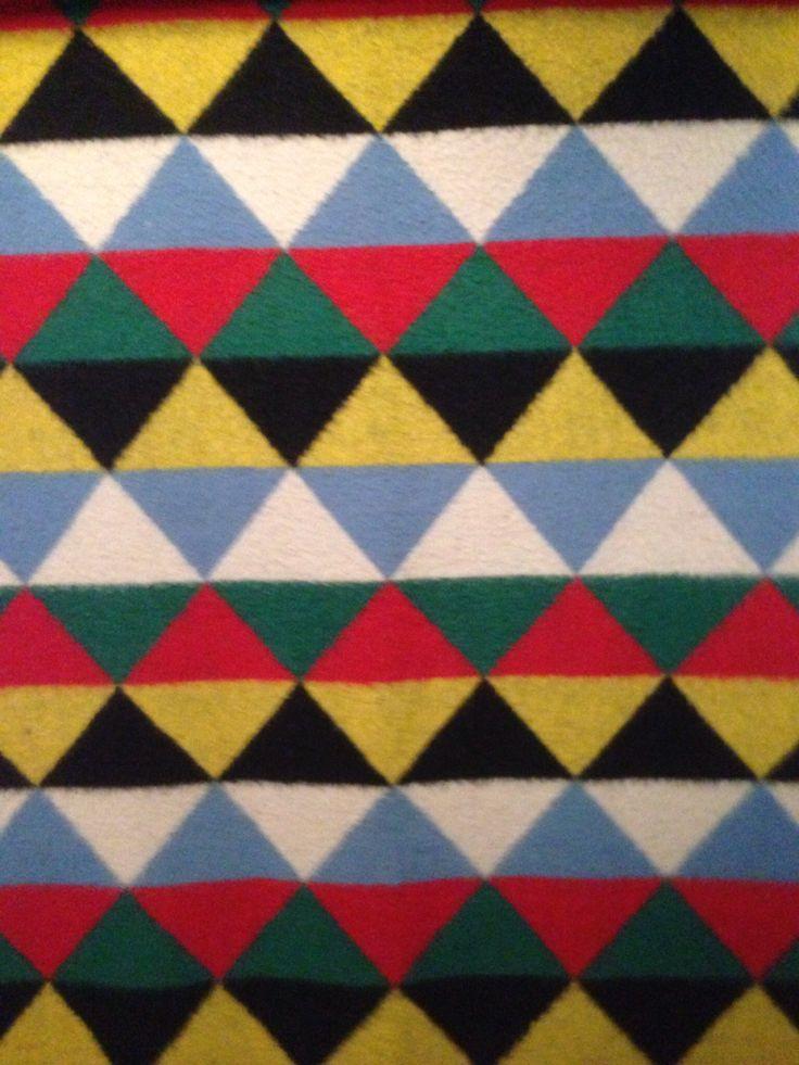 Nostalgie in het textielmuseum: een AaBe deken uit de jaren '50